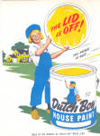 1947 DUTCH BOY White LEAD Paint AD 2 pg.