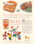 Click here to enlarge image and see more about item 120704ZE: 1957 BIG TOP Peanut Butter Early American AD
