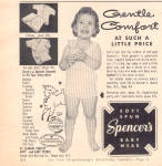 Click here to enlarge image and see more about item 120707ZB: 1957 Spencer's Little Girl Underwear AD