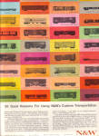 Click here to enlarge image and see more about item 120904BL: 1964 Norfolk - Western 36 Boxcar Car AD TRADE