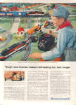 Click here to enlarge image and see more about item 120904C: 1956 Anaconda LIONEL TRAINMASTER ZW Train AD