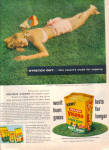1957 VIGORO Lady Napping on LAWN Food AD