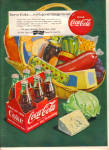 1951 COKE Coca Cola 6 Pack Party Food AD