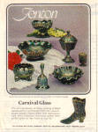 Click here to enlarge image and see more about item 121204BM: 1972 FENTON CARNIVAL GLASS AD 8 Piece Pattern