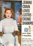 1957 JEANNE CRAIN Actress Lustre Creme AD