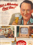 Click here to enlarge image and see more about item 121304BF: 1951 WILLIAM GARGAN PI BLATZ Beer Ad