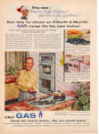 Click here to enlarge image and see more about item 121304CB: 1957 BING CROSBY Gas Appliance Christmas AD