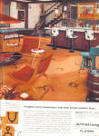 Click here to enlarge image and see more about item 121304CJ: 1957 Armstrong Excelon ASBESTOS Western Bar A