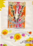 Click here to enlarge image and see more about item 12204D: PEACE SIGN HIPPY COKE Coca Cola AD 1970ish