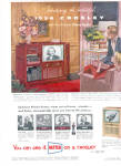 1954 CROSLEY Picture Sentry Television TV AD