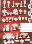 Click here to enlarge image and see more about item 122104K: 1953 Westmoreland MILK GLASS Patterns AD