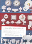 Click here to enlarge image and see more about item 122104RZ: 1951 Westmoreland MILK GLASS HUGE Pattern AD