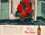 Click to view larger image of 1951 RETRO Aqua FOUR ROSES Whiskey Julep AD (Image2)