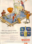 1951 Hiram Walkers Gin IMPORTED BOTANICAL AD