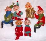 Click to view larger image of 6 Vintage Elves Pixie Christmas Elf Shelf Sittier  (Image4)