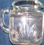 Click here to enlarge image and see more about item 130319K: FEDERAL Glass Star Pattern EAPC Pitcher VINTAGE
