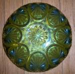 Click to view larger image of Vintage Anchor Hocking Avocad Green Oatmeal Salad Bowl  (Image4)