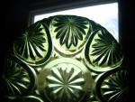 Click to view larger image of Vintage Anchor Hocking Avocad Green Oatmeal Salad Bowl  (Image7)
