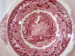 Click to view larger image of RARE Mason's Masons VISTA Pink Round Covered BUTTER  (Image4)