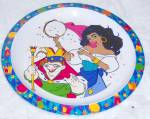 DISNEY CHILD'S MELMAC CHILD PLATE - HUNCHBACK - ESMERAL