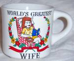 Click to view larger image of Vintage World's Greatest Wife Coffee Mug Cup LAZY WOMAN (Image6)