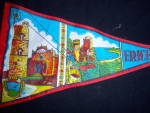 Click to view larger image of Vintage SICILY Erice SOUVENIR PENNANT FLAG (Image2)