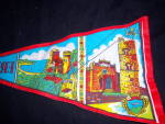 Click to view larger image of Vintage SICILY Erice SOUVENIR PENNANT FLAG (Image3)