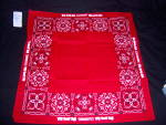 Click here to enlarge image and see more about item 131226L: NOS Lionel TRAIN Red Kerchief BANDANA NEW OLD STOCK