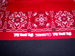 Click to view larger image of NOS Lionel TRAIN Red Kerchief BANDANA NEW OLD STOCK (Image4)