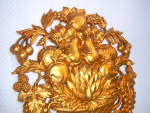 Click to view larger image of LOT 2 VINTAGE 1966 SYROCO Gold ~ Bronze  Wall ART (Image3)