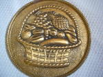 Vintage ~ Brass Fruit Metal Art Wall Hanging Made in En