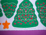 Click to view larger image of Cranston CHRISTMAS IN THE COUNTRY Stencil Trees TABLE D (Image3)