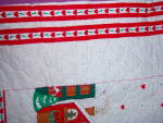 Click to view larger image of QUILTED FABRIC ~ Christmas Apron ~ PANEL ~ Santa Ginger (Image5)