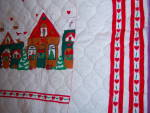 Click to view larger image of QUILTED FABRIC ~ Christmas Apron ~ PANEL ~ Santa Ginger (Image6)