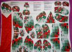 Click to view larger image of Springs CHRISTMAS Teddy Bear ~ Patches ~  Craft FABRIC  (Image3)