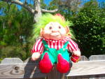 Click here to enlarge image and see more about item 141006NOR: 1992 Vintage NORFIN TROLL Doll Christmas Elf –