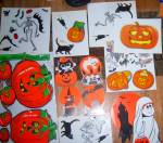 Click to view larger image of 49 pc VINTAGE Peck & Topstone LOT Flocked Black Cats + (Image7)