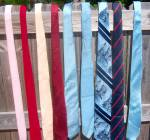 Click here to enlarge image and see more about item 160221TT: Vintage LOT 9 Ties – Geoffrey Beene – Giovanni DeLorenz