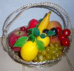 Click here to enlarge image and see more about item 160311A: Vintage LOT 1970's Plastic Fruit Vegetable Deco Banana