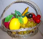Click to view larger image of Vintage LOT 1970's Plastic Fruit Vegetable Deco Banana  (Image3)