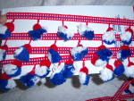 Click to view larger image of Vintage Red White Blue Tassel Pompom 2 1/4 in Patriotic (Image2)