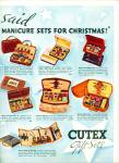 Click here to enlarge image and see more about item 3691: 1937 CUTEX GIFT SETS AD Manicure Polish ++ Se