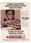 Click here to enlarge image and see more about item 82002A: 1980 Colgate Toothpaste Little Black Boy  Ad