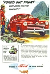 Click here to enlarge image and see more about item R9323: 1946 Ford Car AD IN YOUR FUTURE Artwork