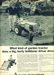 Click here to enlarge image and see more about item 9385: 1967 ALLIS Chalmers LAWN TRACTOR AD