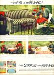 Simmons Hide a bed ad 1949