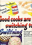 Swiftning shortening ad 1949