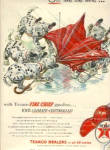 1954 Texaco Dalmation Fire Chief UMBRELLA Ad