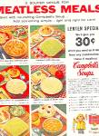 1959 CAMPBELL'S SOUP MEATLESS MEALS AD