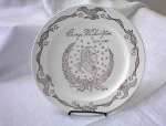 Click here to enlarge image and see more about item ECH011203B: Vintage Gold President Plate GEO WASHINGTON